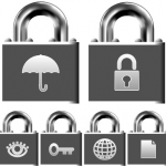 locks with pictograms